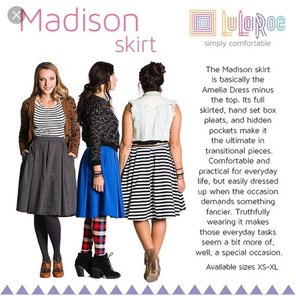Lularoe Madison Skirt